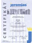 Certifikát JEREMIAS