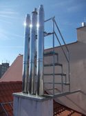 Izolované komínové nástavce, Brno
